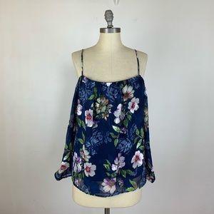 Stitch Fix Alice Blue Floral Cold Shoulder